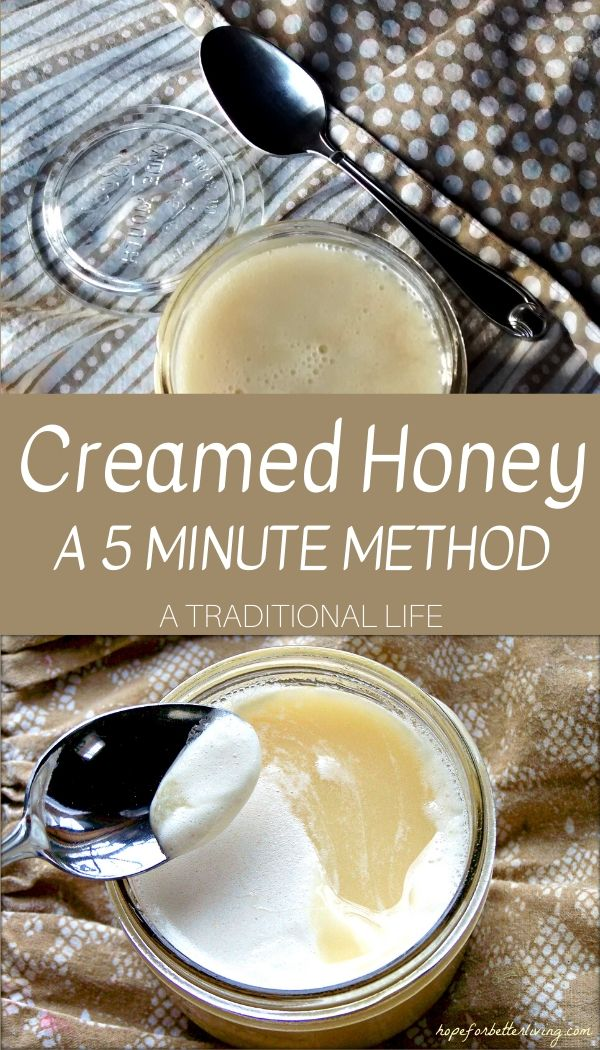 Make mock creamed honey in an electric mixer