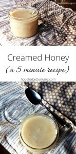 Learn how to make creamed honey in your electric mixer! It'll only take 5 minutes!