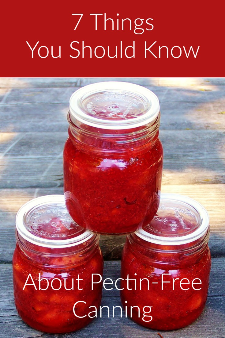 Taking up pectin-free canning this year? Here's a few things to consider before doing so!