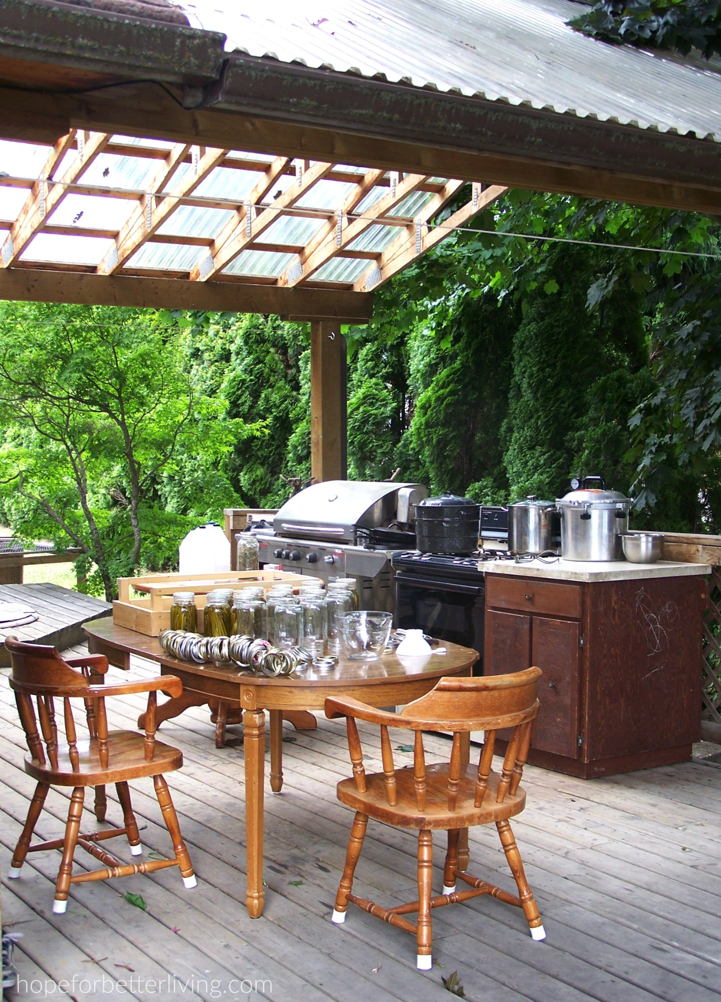 Better Living's Outdoor Canning Kitchen