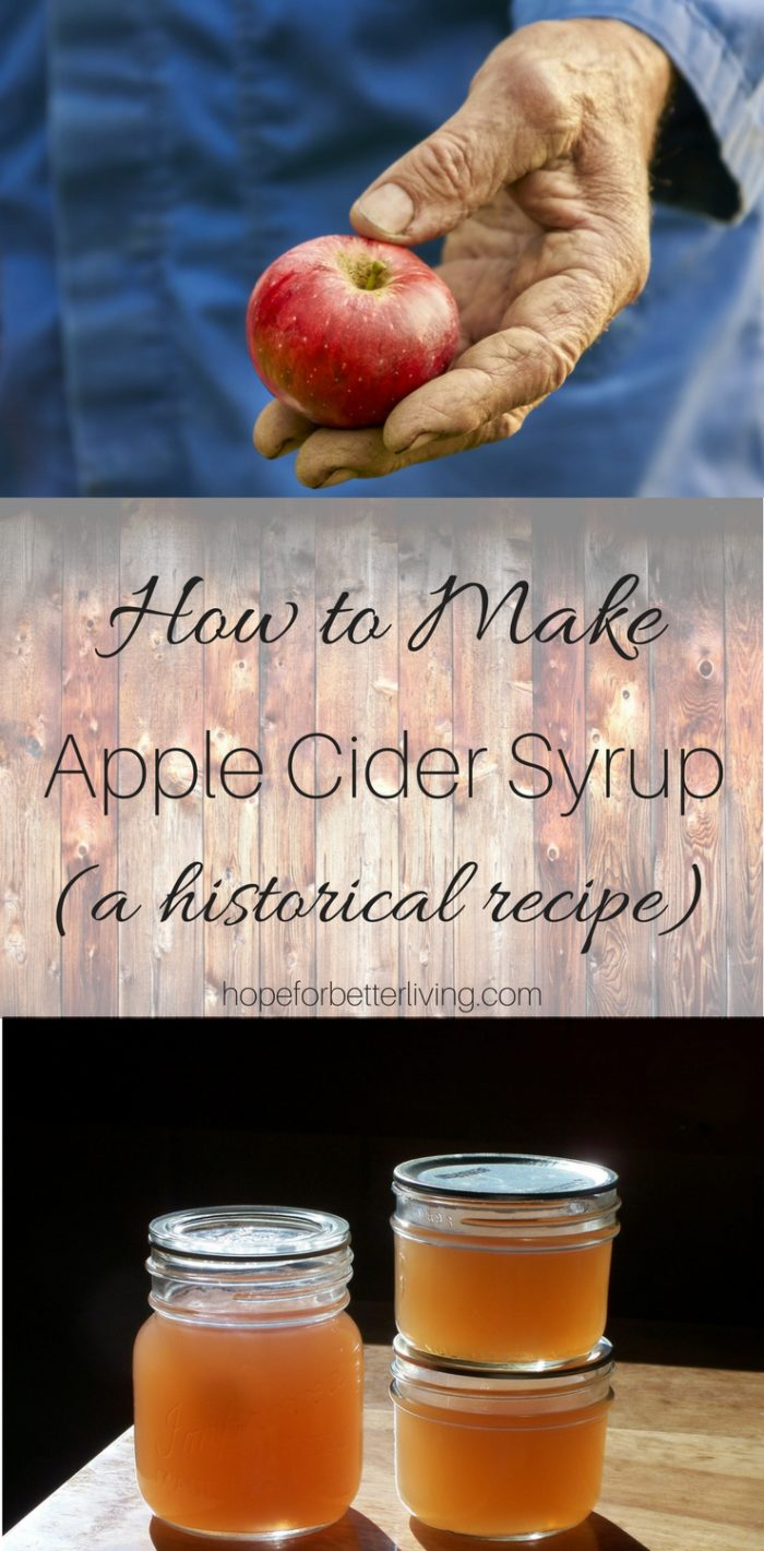 Discovered in an old cookbook, apple cider syrup is a must for the traditional kitchen!