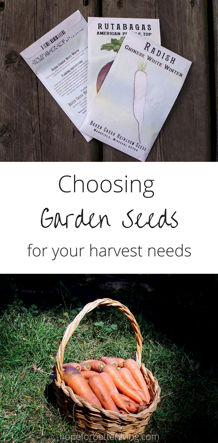 Growing an efficient garden starts with your seed order!