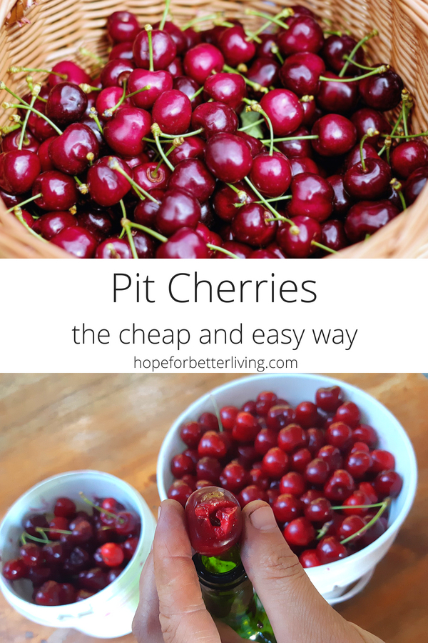 You don't have to buy a cherry pitter! Here's how you can pit cherries with items you already have on hand!