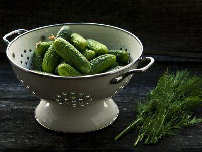 Making Dill Pickles: A Cucumber Cleaning Hack