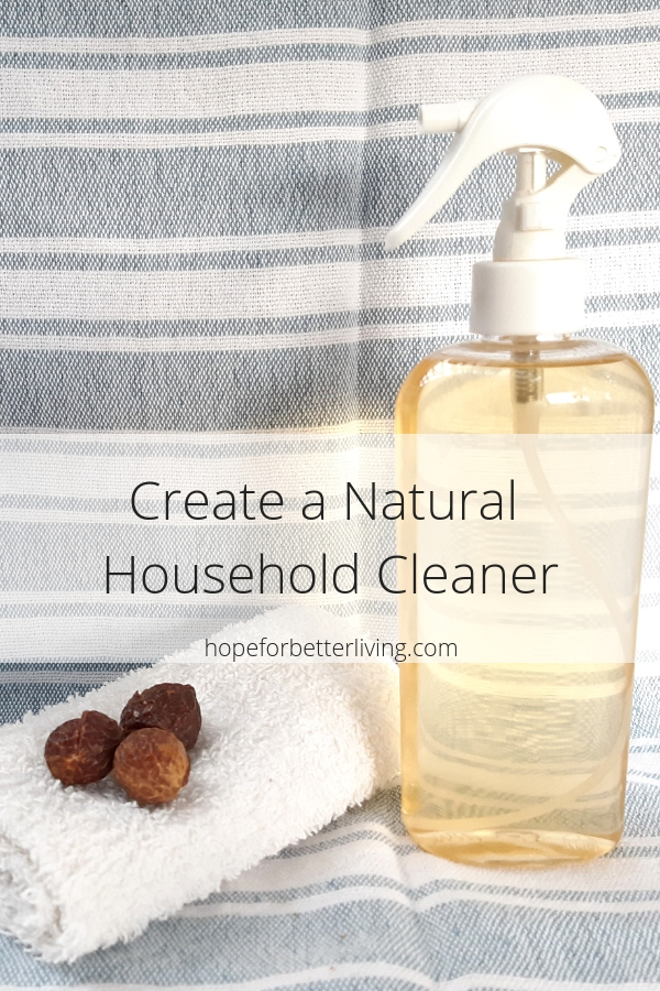 Create your own frugal, natural household cleaner with this 3 ingredient recipe!