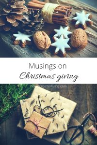 Christmas is a season of giving. And it isn't always about the gifts.