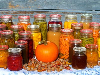Jars of home canned food help cut the cost of groceries!