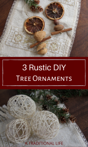 Three rustic DIY ornaments for the country gal's tree!