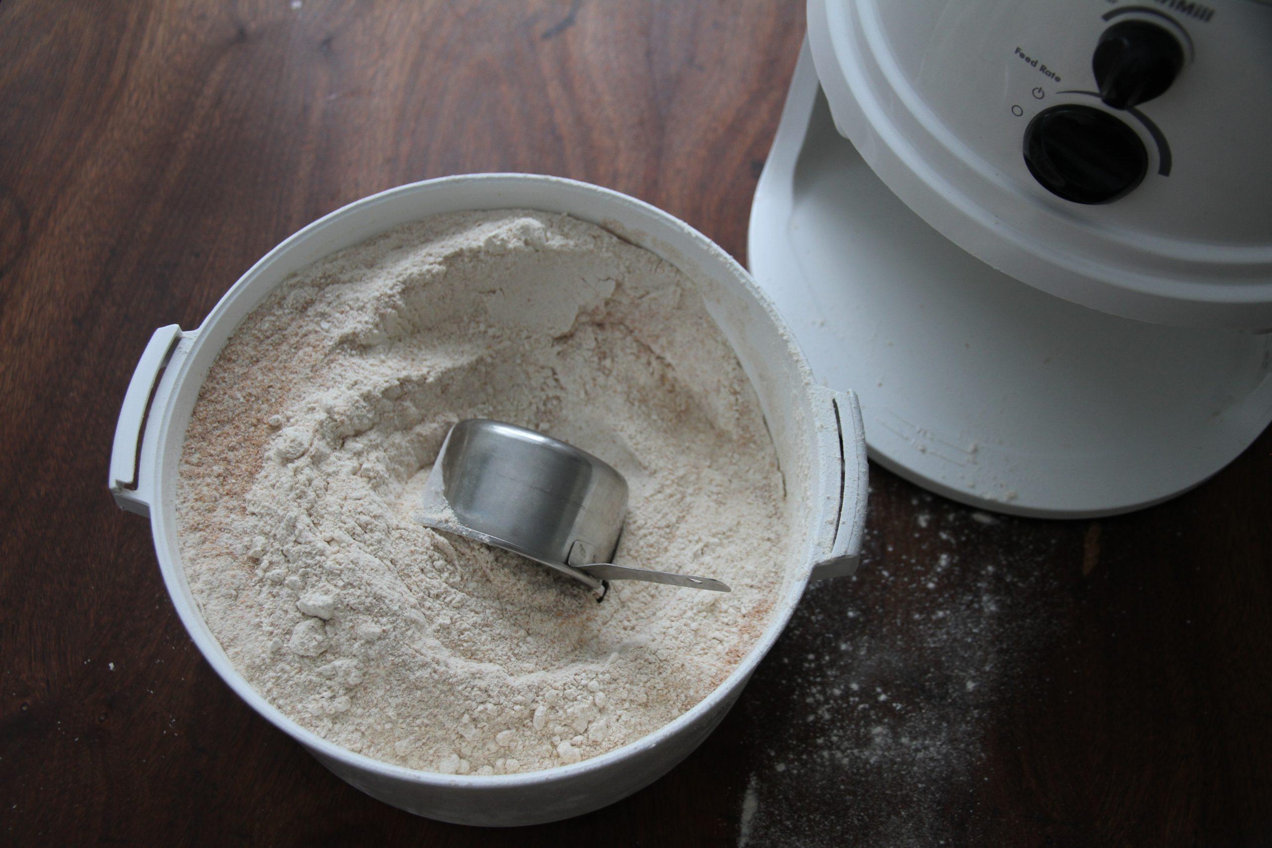 Fresh milled, whole wheat flour