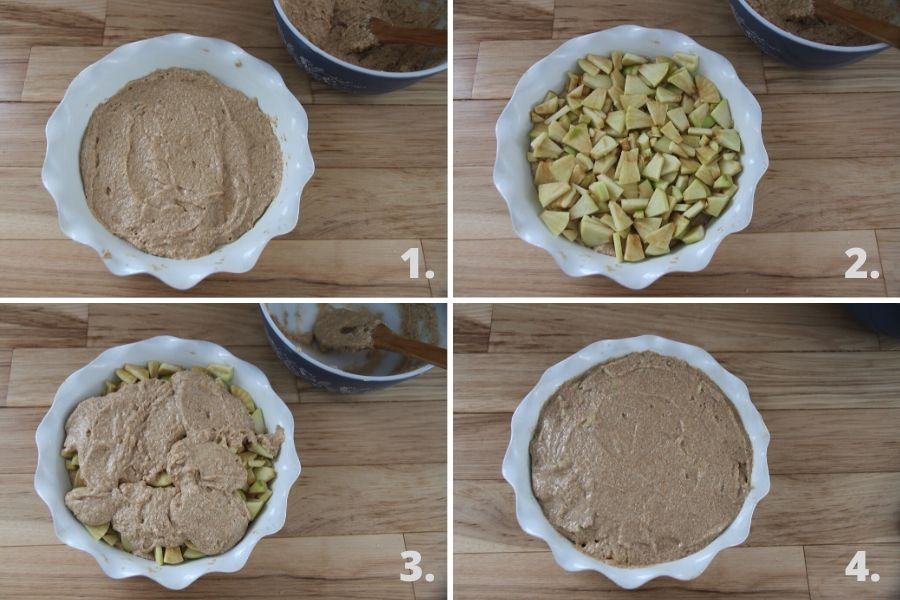 Create this delicious apple pudding for a tasty breakfast!