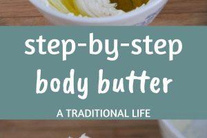 homemade whipped body butter