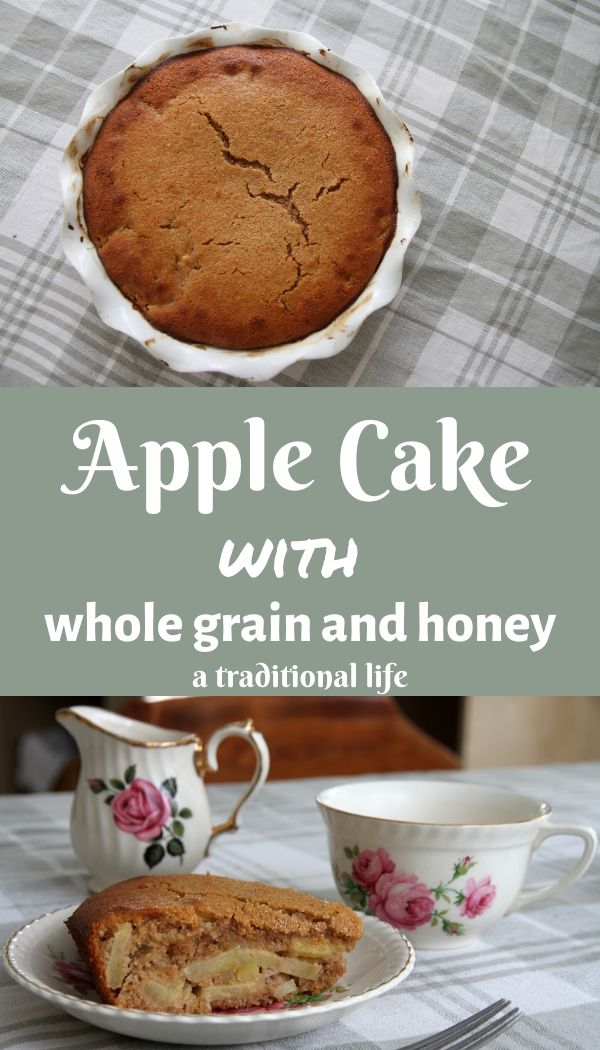 Make with whole food ingredients, you'll enjoy this apple cake recipe!