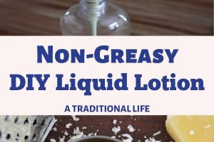 Learn to make a natural liquid lotion using just 4 ingredients!