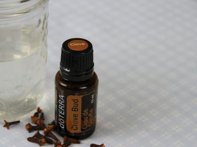 A bottle of clove oil