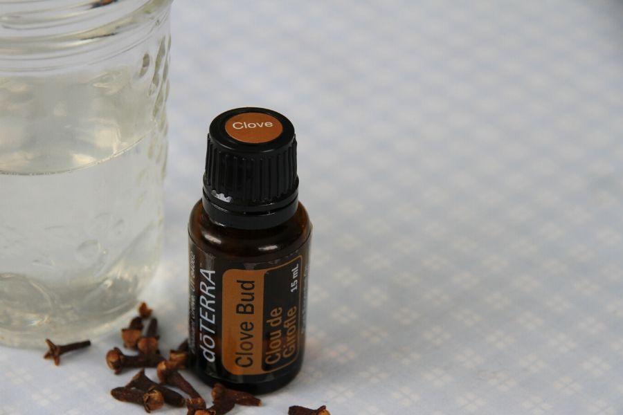 A bottle of clove oil