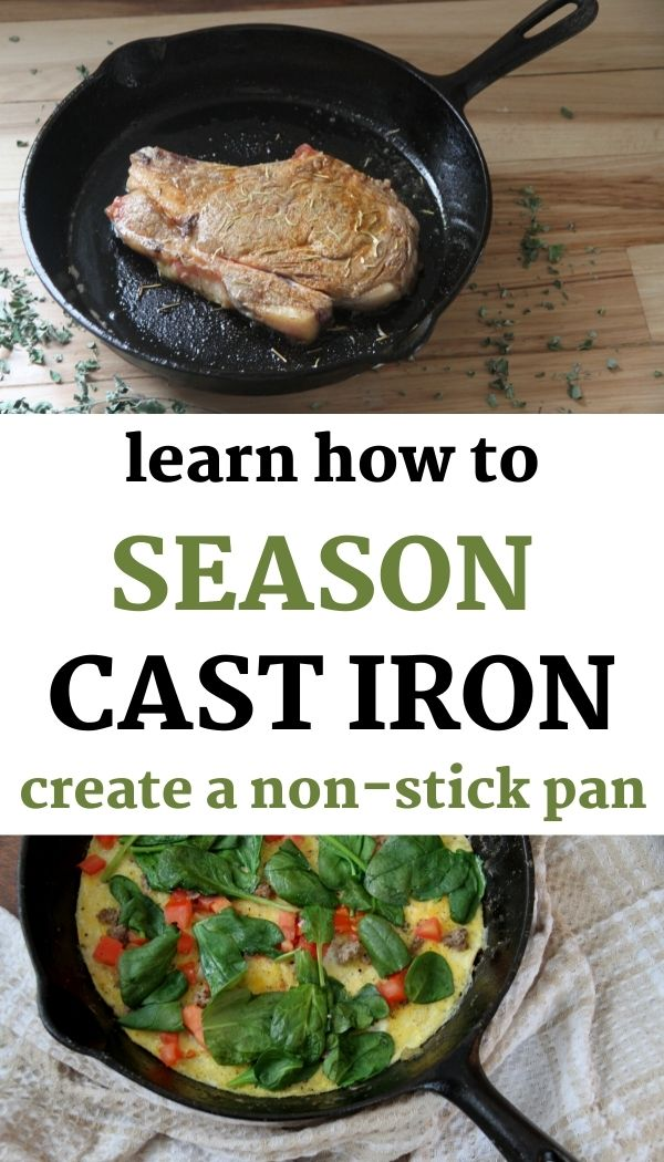 Learn how to season a cast iron skillet for a non-stick surface!