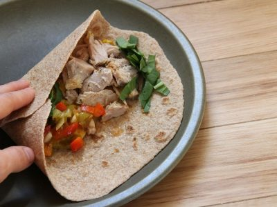 Make your own, pliable whole wheat tortillas by following this recipe!