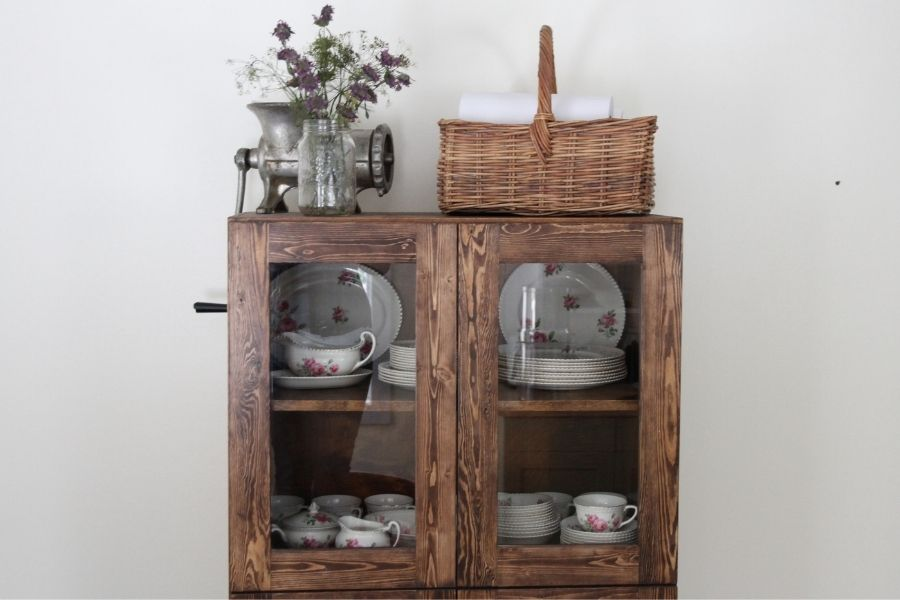 How We Turned a Shelf Into a Dining Room Hutch