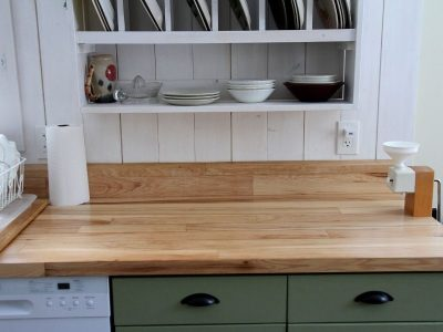 our hardwood countertops in the Mountain Cottage kitchen