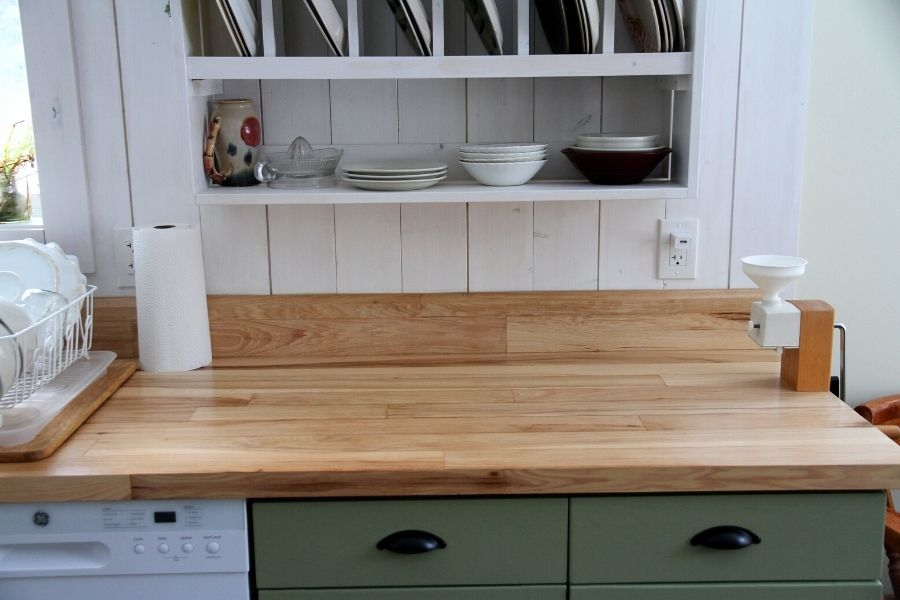 How We Made Kitchen Countertops from Hardwood Flooring