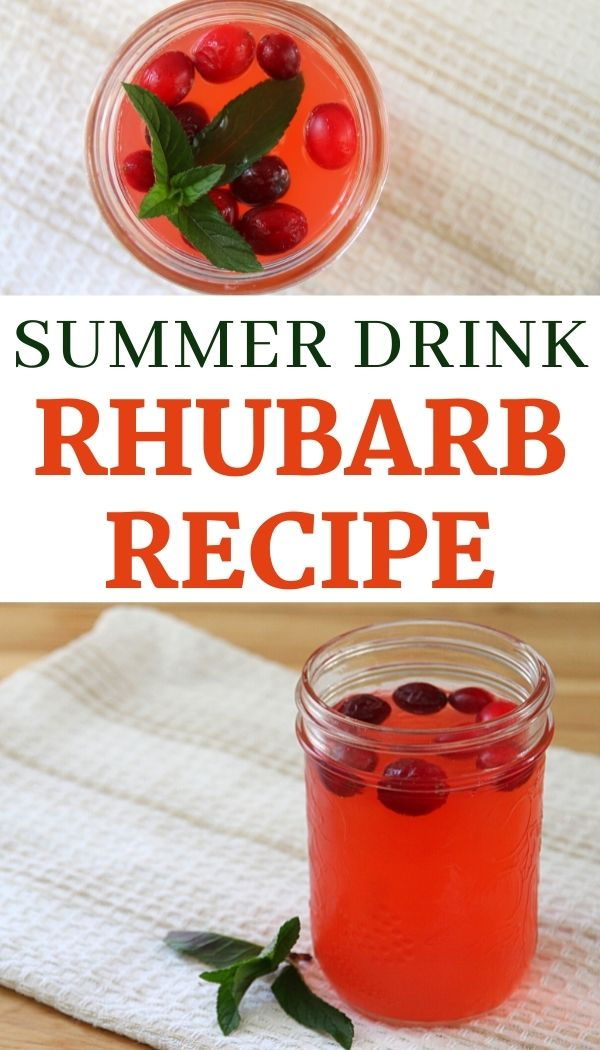 Use rhubarb to create a healthy summer drink!