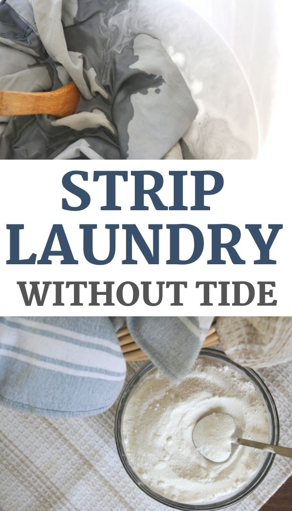 Discover how to naturally strip laundry, without using tide or other unnatural laundry detergents!
