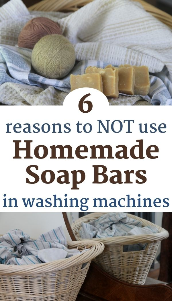Discover why you shouldn't use homemade laundry soap bars in the washing machine!